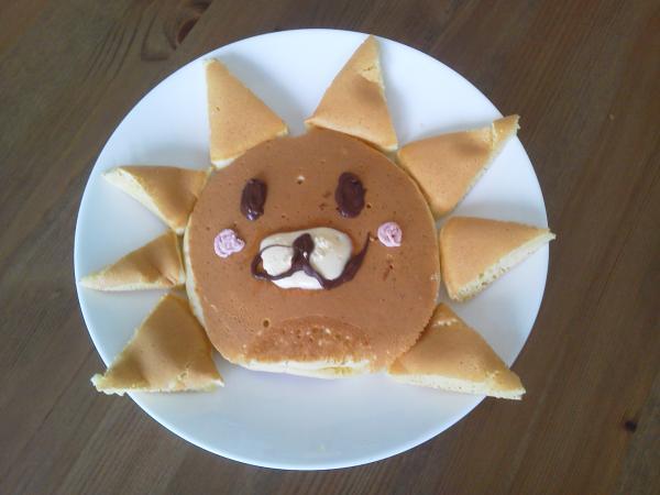 ホットケーキでライオンだぁ♪