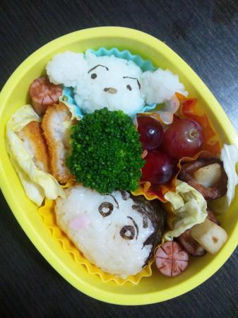 しんちゃん&シロ弁当