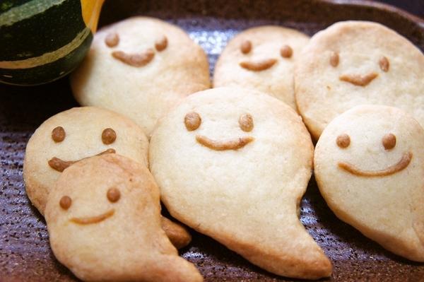 ハロウィンに♪型無しおばけクッキー~(m~-~)m[キャラスイーツ・キャラケーキ]