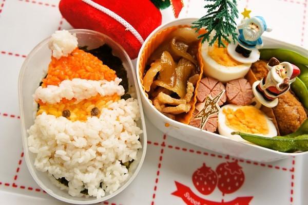 クリスマスキャラ弁☆サンタさん弁当