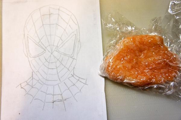 材料4つdeかんたん!男子に人気のスパイダーマンの作り方(レシピ) その4