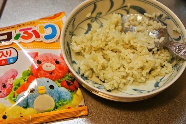 デコふりde簡単に☆モンスターズインクのマイク弁当の作り方画像1