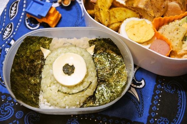 デコふりde簡単に☆モンスターズインクのマイク弁当の作り方(レシピ) その7