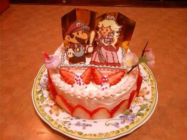 マリオのひな祭りケーキ