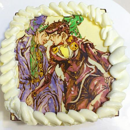 ジョジョ・東方仗助&吉良吉影キャラケーキ