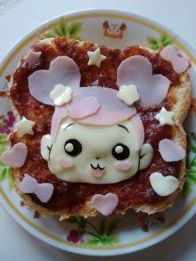 ドキドキ!プリキュア☆アイちゃんのピザトースト[キャラプレート・キャラごはん]