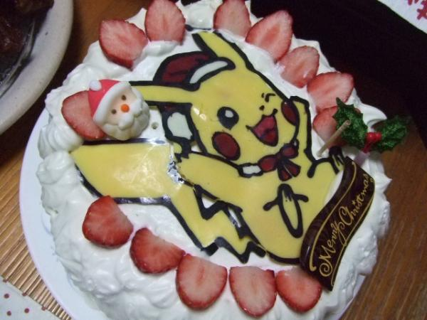 ピカチュウのサンタケーキ♪[キャラスイーツ・キャラケーキ]
