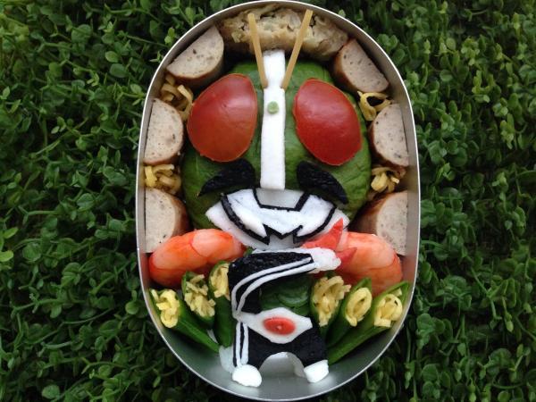 仮面ライダーのお弁当