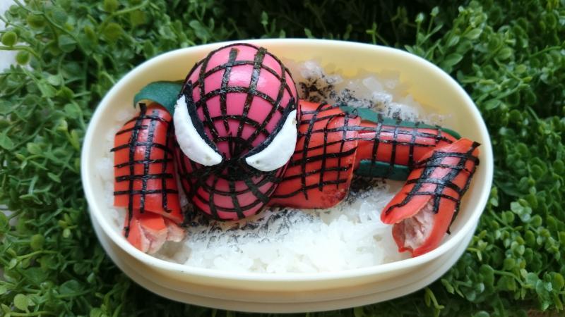 アメージングスパイダーマンのお弁当[キャラ弁・デコ弁]
