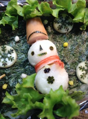 冬の雪だるまちゃん弁当の作り方(レシピ) その1
