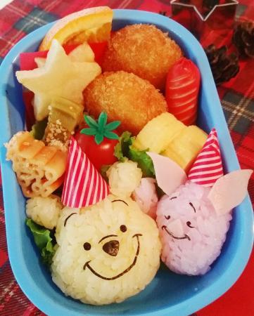 プーさんとピグレットのクリスマス弁当