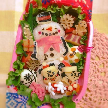 ミッキー♡ミニーちゃん&スノーマンのお弁当