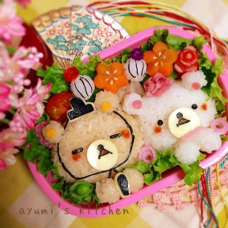 リラックマ&コリラックマのお雛祭り弁当