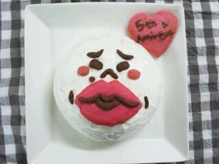 ムーンの立体凸ケーキ