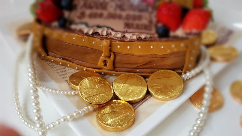 ONE PIECEルフィーの宝箱ケーキ