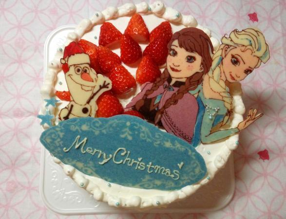 アナ雪クリスマスケーキ