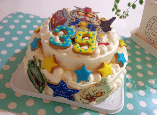 ガンダム二段ケーキ★