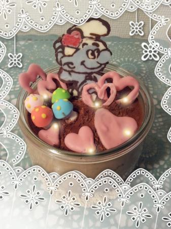 バレンタインデー★スマーフ チョコムース