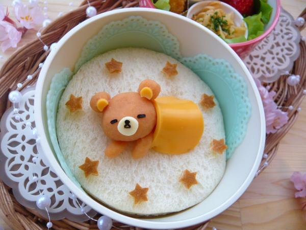 マッシュdeお昼寝リラックマのお弁当♪