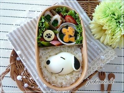 ゆで卵deスヌーピーのお弁当♪