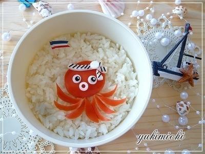 海のお友達☆たこさんのお弁当♪