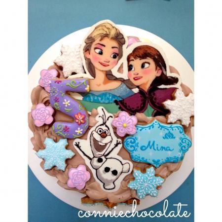 アナと雪の女王ケーキ