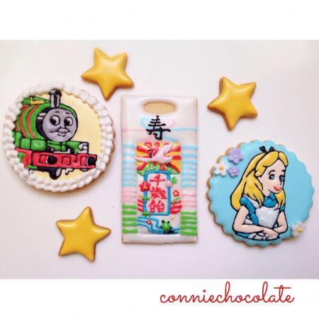 パーシーとアリスのアイシングクッキー[キャラスイーツ・キャラケーキ]