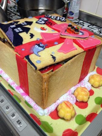 アンパンマンのケーキボックス