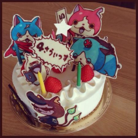 妖怪ウォッチキャラチョコケーキ