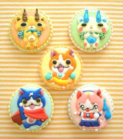 妖怪ウォッチのアイシングクッキー★