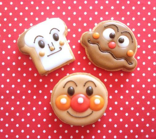 アンパンマンのアイシングクッキー♪