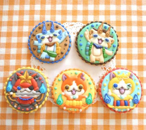 妖怪ウォッチのアイシングクッキー☆