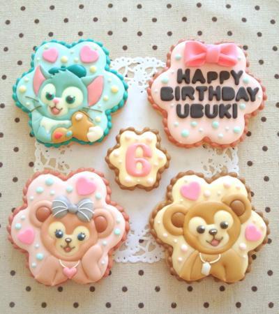 ダッフィー&シェリーメイ&ジェラトーニのアイシングクッキー♥