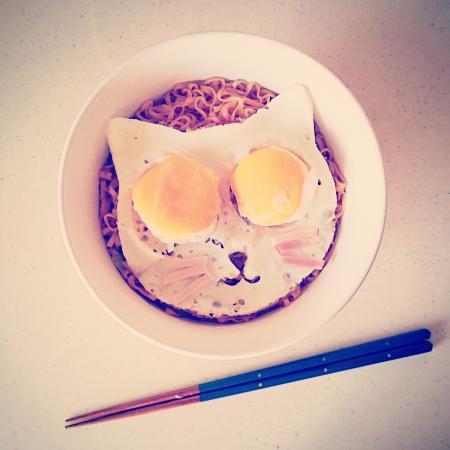 デコ猫♡チキンラーメン[キャラプレート・キャラごはん]